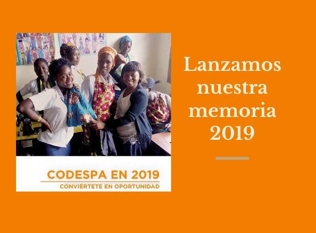 Lanzamiento memoria 2019