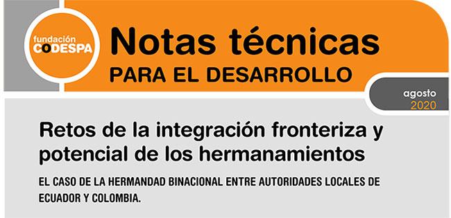 Nota técnica integración fronteriza