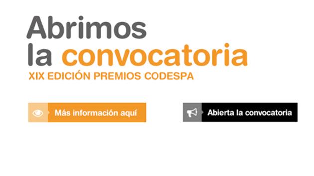 Abrimos la convocatoria a la XIX Edición de los Premios CODESPA. ¡Con novedades!