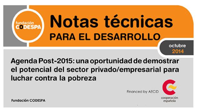 Agenda Post-2015: una oportunidad de demostrar el potencial del sector privado/empresarial para luchar contra la pobreza