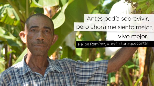 """""""Antes podía sobrevivir, pero ahora me siento mejor, vivo mejor"""" Felipe Ramírez #unahistoriaquecontar"""