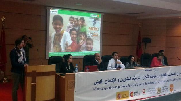 Seminario de alianzas público privadas para la educación, la formación y la inserción profesional en Marruecos