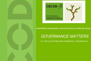 Governance matters: el vínculo entre buen gobierno y desarrollo