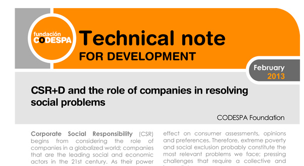 CSR+D and the role of companies in resolving social problems