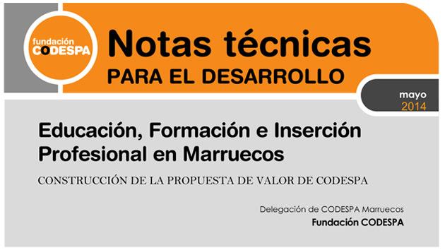 Educación, Formación e Inserción Profesional en Marruecos