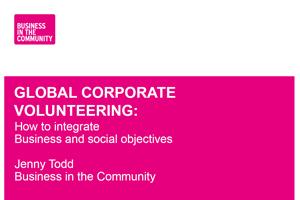 Voluntariado Corporativo para el Desarrollo: cómo integrar los objetivos del negocio y objetivos sociales.