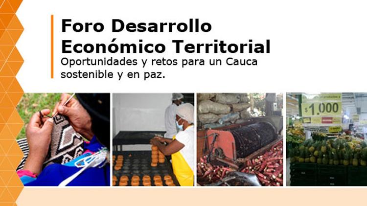 Foro Desarrollo Económico y Territorial: oportunidades y retos para un Cauca sostenible y en paz