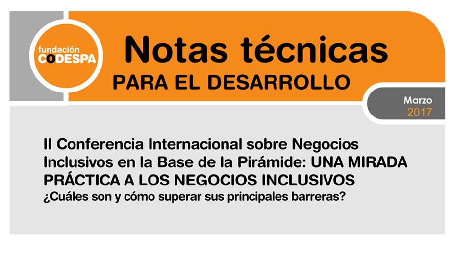 II Conferencia internacional sobre negocios inclusivos en la base de la pirámide