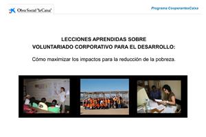 Lecciones aprendidas sobre Voluntariado Corporativo