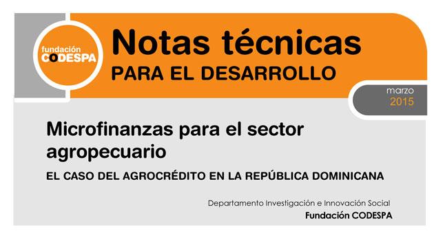 Microfinanzas para el sector agropecuario