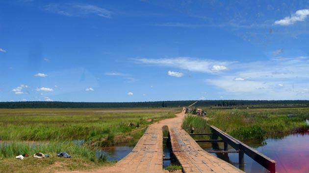 Caminos intransitables en Angola