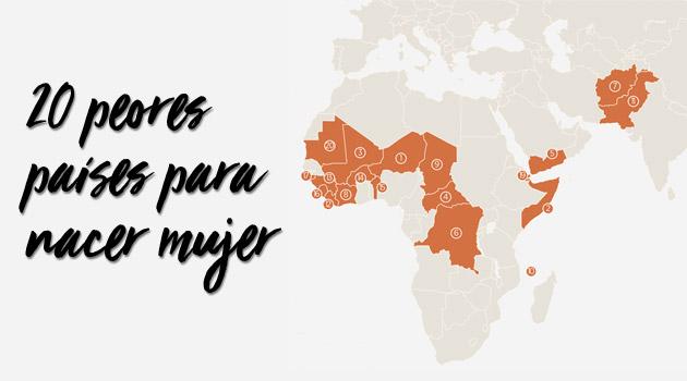 De los 20 peores países para nacer mujer, 16 están en África
