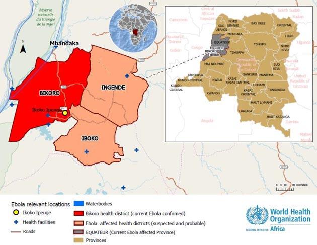R.D. Congo y el ébola en 2018