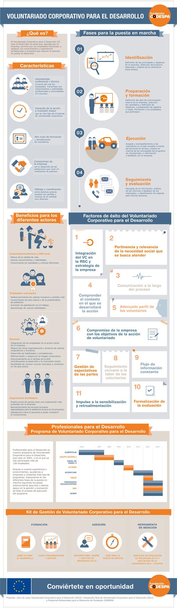 Infografía Voluntariado Corporativo para el Desarrollo