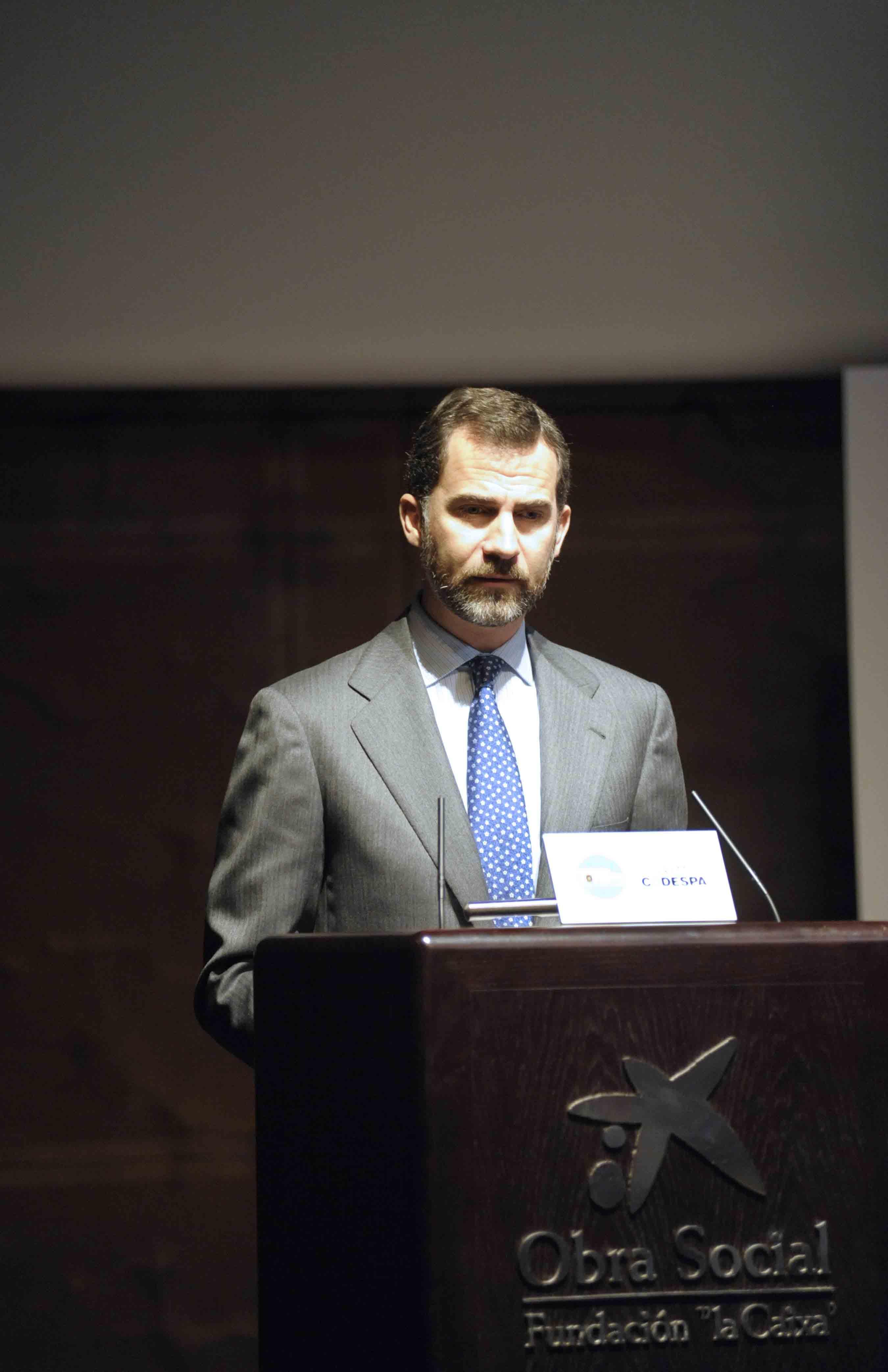 El Príncipe de Asturias durante la entrega de los Premios CODESPA