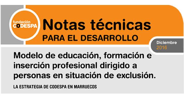 Modelo de educación, formación e inserción profesional dirigido a personas en situación de exclusión