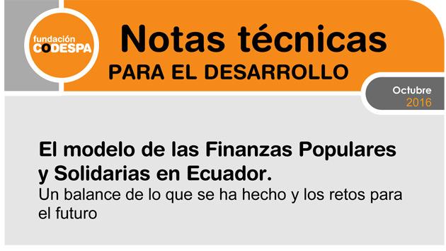 El modelo de las Finanzas Populares y Solidarias en Ecuador. Retos
