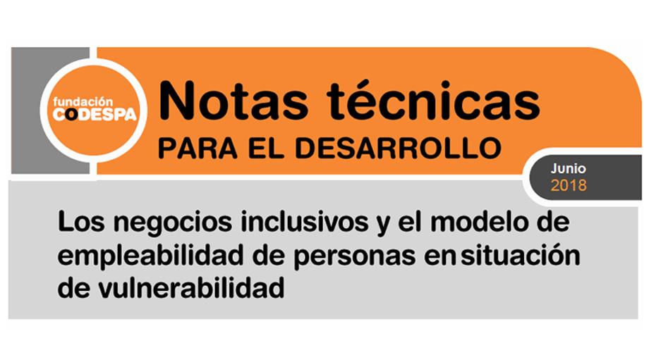 Los negocios inclusivos y el modelo de empleabilidad de personas en situación de vulnerabilidad