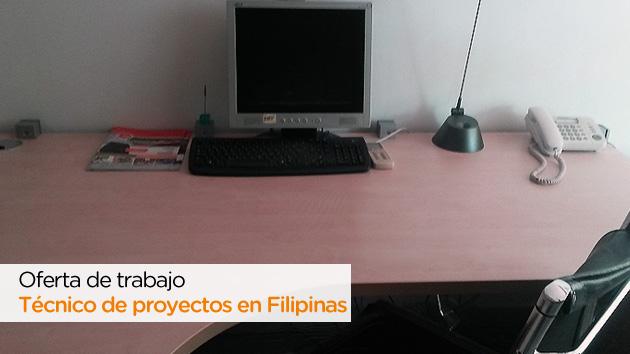 Oferta de trabajo como técnico de proyectos en Filipinas