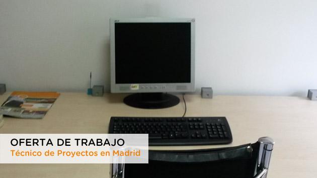 Oferta de trabajo como técnico de proyectos en sede