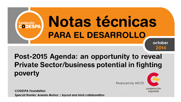 Post-2015 Agenda: an opportunity to reveal Private Sector/business potential in fighting poverty