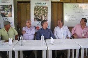 Juan Manuel Santos, Presidente de Colombia, visitó el proyecto agrícola de VallenPaz y CODESPA