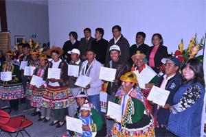 El Ministerio de Educación certifica a los Kamayoq por su rol protagonista en el desarrollo rural
