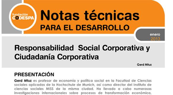 Responsabilidad Social Corporativa y Ciudadanía Corporativa