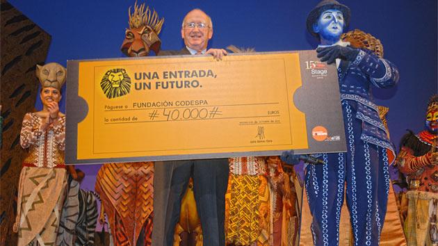 Stage Entertainment dona 40.000 € a nuestros proyectos en África