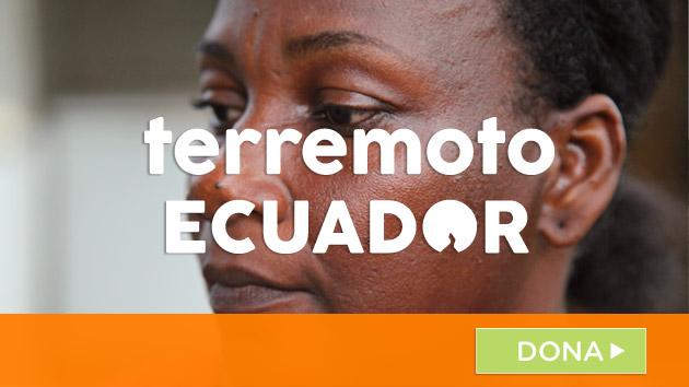 Colabora con las víctimas de Ecuador