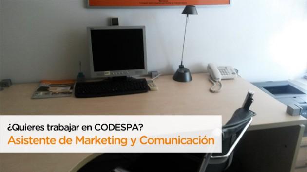 Oferta de trabajo como Asistente de Marketing y Comunicación