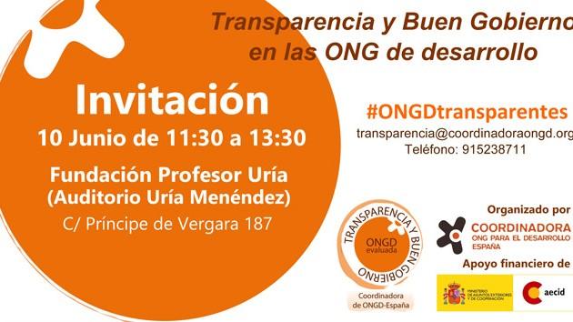 """Jornada """"Rindiendo cuentas: Transparencia y Buen Gobierno en las ONGD"""""""
