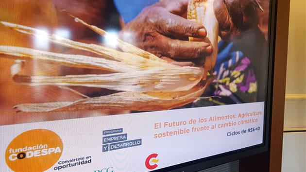 """VII Ciclo RSE+D, """"El futuro de los alimentos: agricultura sostenible frente al cambio climático"""""""